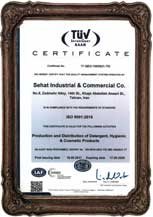 ISO 9001:2008 international certificate from TUV