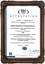 Holder of ISO 22716:2007 international certificate from TUV (GMP)